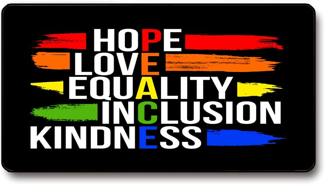 Peace Hope Love Equality Kindness-Oversized Columbus Mall Lock Edge Inclusion Max 69% OFF