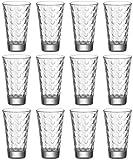 Leonardo Ciao Optic 048856 Lot de 12 grands gobelets en verre transparent 300 ml Hauteur 13 cm Passe au lave-vaisselle