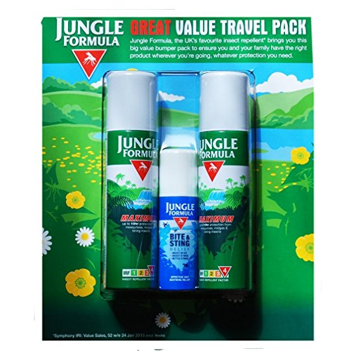 Jungle Formula Insect Repellent Travel Combo Pack by Jungle Formula