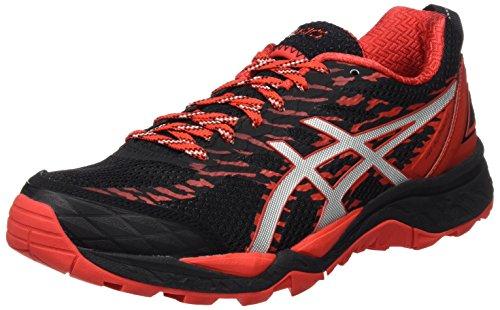 Asics Gel-Fujitrabuco 5, Zapatillas de Trail Running para Hombre, (Black/Vermilion/Silver), 45 EU
