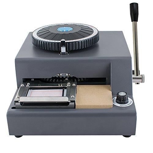 Enshey 72-Character Embossing Machine Card Embosser Printer PVC Credit Card/Gift Card Embosser Stamping Machine Credit ID VIP Magnetic Manual Embossing Machine