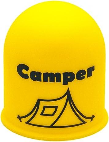 Schutzkappe Anhängerkupplung Blickfang Campingplatz Glamping Zelt Tent Gelb Auto