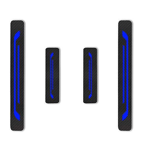 Einstiegsleiste Schutz Aufkleber Reflektierende Lackschutzfolie für Leaf NV200 Combi Micra Note Pulsar Juke Qashqai X-Trail Navara 370Z GT-R Einstiegsleisten Blau 4 Stück