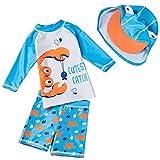 Maeau Bade-Set Baby Junge Uv-Schutz Badeanzug Bademode Cartoon Badebekleidung Schwimmbekleidung 6-9 Monate