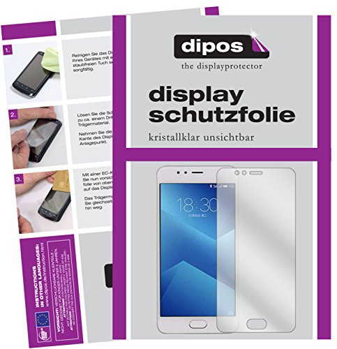 dipos I 6X Schutzfolie klar kompatibel mit Meizu M5s Folie Bildschirmschutzfolie