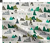 Spoonflower Stoff – Adventure Green Regular Baby Mountain