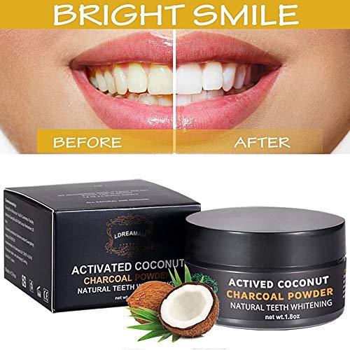 Activated Charcoal Teeth Whitening Poeder,Activated Charcoal poeder,Actieve Kool Poeder voor Natural Tanden Bleken met Pepermuntsmaak,Thuis tanden bleken