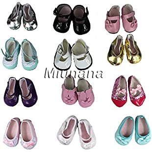 Miunana 5 Pairs Outdoor Shoes for 16 - 18 Inch American Girl Doll(Random Styles):Carsblog