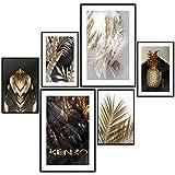 decomonkey | Poster 6er– Set schwarz-weiß Bilder Set