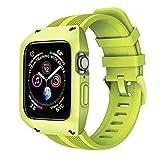 アップルの腕時計のベルト アイデアのシリカゲルは一体で殻を保護して 潮流の運動風 Apple watch series4/5は適用します 緑 38/40mm