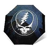 Night Of Grate-Ful Dead Windproof Automatic Retractable Folding Lightweight Umbrella Travel Umbrella