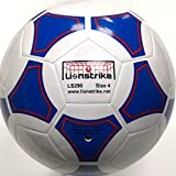 Lionstrike Ballon de football léger en cuir Taille 4, blanc