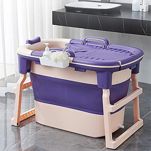 CKRBACY Bañera de bebé, bañera de bebé para bebé, bañera de niños, Bucket de natación para bebés, 102x66x71.5cm,Púrpura
