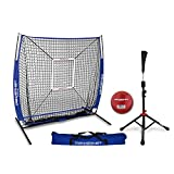 PowerNet 5x5 Practice Net + Deluxe Tee + Strike Zone + Weighted Training