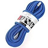 X XBEN Rock Climbing Rope, Static UIAA Mountain Climb Ropes, 10.5MM 32FT Blue Mountaineering Climbing Gear for Rescue, Hiking, Outdoor...