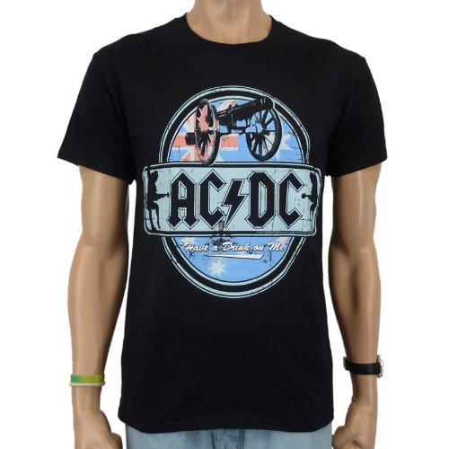 AC/DC Have A Drink Band T-shirt Noir S Noir