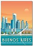 DJNGN Buenos Aires Reise-Metall-Blechschilder,