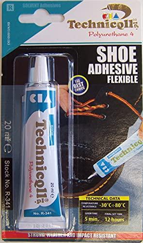Technicqll Colle fort pour chaussures cuir caoutchouc feutre nylon skaï et tissu 20 ml