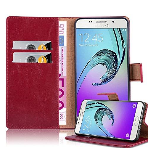 Cadorabo Custodia Libro per Samsung Galaxy A5 2016 in Rosso Vinaccia - con Vani di Carte, Funzione Stand e Chiusura Magnetica - Portafoglio Cover Case Wallet Book Etui Protezione