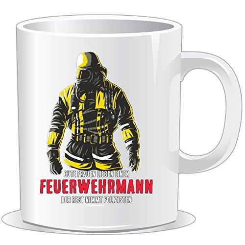 getshirts - Rahmenlos® Geschenke - Tasse - Feuerwehr - Gute Frauen lieben einen Feuerwehrmann - Uni Uni