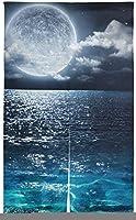 のれん ピアス 85X150CM ロング 夜空 海 海洋 美しい 和風高級 玄関 目隠し 冷暖効率アップロング暖簾 のれん 名称 のれん 65cm のれん 北欧風