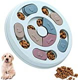 Dog Puzzle Toy - Interactive Training Toy Box - Creative Dog Smart Beginner, Advanced Treat Dispenser to Improve Dog's IQ, Non-Slip Slow Feeder for Puppy Dogs Boredom,Blue