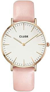 CLUSE La Bohème Rose Gold White Pink CL18014 Women's Watch 38mm Leather Strap Minimalistic Design Casual Dress Japanese Quartz Elegant Timepiece