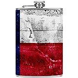 Bennigiry Petaca para hombre, diseño de estrella occidental de Texas de acero inoxidable, botella de vino con bolsillo de piel para guardar whisky alcohol licor (8 oz)