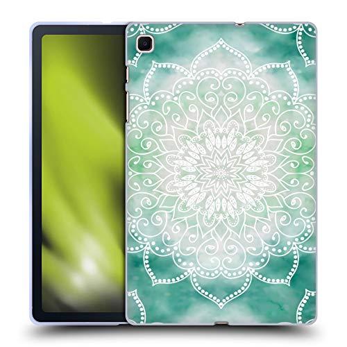 Head Case Designs Licenza Ufficiale Nika Martinez Boho Verde Mandala Cover in Morbido Gel Compatibile con Samsung Galaxy Tab S6 Lite