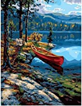 1000 Piece Puzzles for Kids Boat On The Edge of The River Modern Art Picture Wooden Toys Fun Games Educational Toy for Kids and Adults