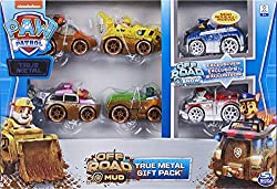 AUTHENTIC PAW PATROL VEHICLES: With realistic details, graphics, working wheels and metal material, the 1:55 scale True Metal vehicles look just like PAW Patrol's Off-Road vehicles from the show REAL WORKING WHEELS: Featuring working wheels, True Met...