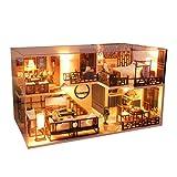 Longrep Kit De Bricolage Cottage Maison Miniature Modèle De Construction Assemblé À La Main En Bois Grande Maison De Villa Maison De Poupée Anniversaire Créatif Cadeau De Noël