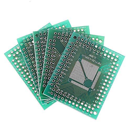 NKJH Módulo electrónico QFP TQFP LQFP FQFP 32 44 64 80 100 LQF SMD Turn Placa PCB Adaptador Dip al convertidor de Placas 0,5/0,8 mm IC Adaptador de Enchufe 50pcs