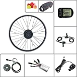 Schuck Kit de modificación de Bicicleta eléctrica Rueda Delantera Motor Rueda 16-29 Pulgadas Rueda 700C 36V48V 250W con Kit de Pantalla ebike KT LCD5 (48V250W LCD5 28inch)