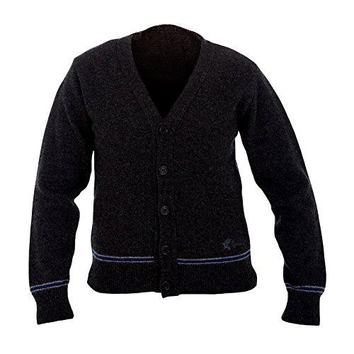 HARRY POTTER Ravenclaw Cardigan Hogwarts College Kleidung direkt vom Filmausstatter made in Schottland Lammwolle, Schwarz, M
