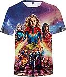 PANOZON Camiseta Unisex Impresión de Vengadores Endgame para Fanes de Película Avengers (XL, Capitana2)