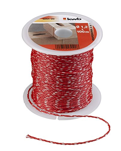 Kwb 9251-20 - Albañil guita 100 m, 1.2 mm, de color rojo,