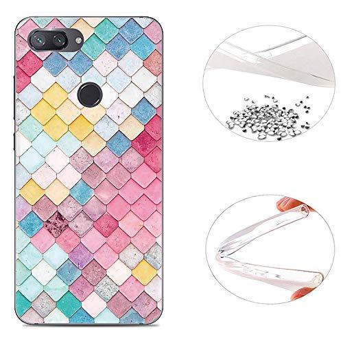 AIOIA Funda TPU para Movíl Xiaomi Mi 8 Lite,Carcasa Protectora Gel Ultrafina para Xiaomi Mi 8 Lite