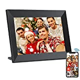 YunQiDeer 8 Inch Smart Cloud WiFi Digital Picture Frame with 1080P IPS Touch Screen HD Disply,Built-in 16GB Storage,Video Clips and Slide Show,Send Photos Instantly from Anywhere with via Free APP