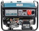 Groupe électrogène à essence KS 10000E-3 pour consommateurs du courant triphasé (400V), puissance maximale 8000 W, déma manuel / électrique, 1x16A (400V), 1x16A (230V), moteur EURO-V, affichage LED.