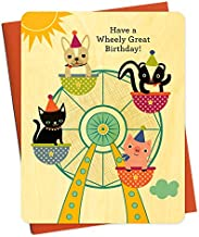 product image for Ferris Wheel Wood Birthday Card by Night Owl Paper Goods