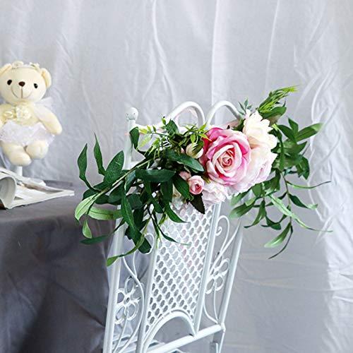Bongba Silla, corona artificial, guirnalda de imitación de seda, flores, decoración de puerta para bodas y eventos, suministros de decoración de fiesta