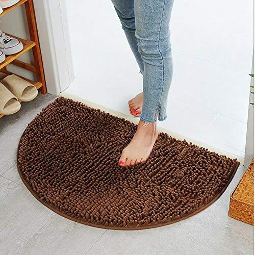 ZGGLORY Super Absorbs Fußmatte,Semi Circle Home Indoor Fußmatte,rutschfeste Türmatte für kleine Haustür im Boden Schmutzfänger (40 * 60 cm)-B