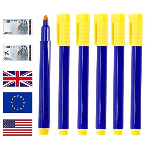 Geldscheinprüfer Stift Prüfstift Geldschein Tester Geldscheinsprüfer für US-Dollar, Euro, Pfund, Yen, Won usw. 10er Set
