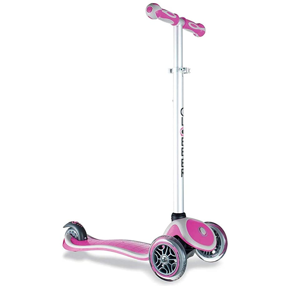 店主会議線形GLOBBER グロッバー PRIMO キックボード 3輪 フットブレーキ  外遊び 子供 乗り物 安全設計 キックスクーター (ピンク) WLGB440110