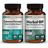 Heart Health Supplements Bundle by DailyNutra: Includes Calmness Formula and Herbal BP Natural Blood Pressure Support