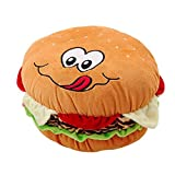 GIRISR Plüsch Cheeseburger Kissen Flauschige Gefüllte Hamburger Kissen Weiche Burger Essen Plüsch...