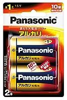 パナソニック 単1形アルカリ乾電池 2本パック LR20XJ/2B