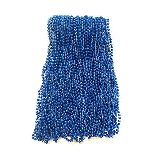 Royal Blue Mardi Gras Beads 33 inch 7mm, 6 Dozen, 72 Necklaces
