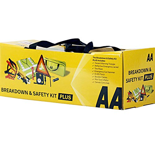 AA Breakdown & Safety Kit Plus, with Tyre Inflator